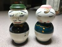 Vintage Mr. and Mrs.Russian doll like Salt and Pepper Shakers Anthropomorphic