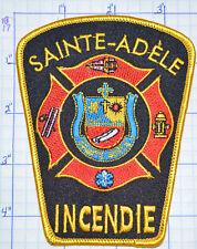 CANADA, SAINTE-ADELE FIRE RESCUE SERVICE INCENDIE QUEBEC PATCH