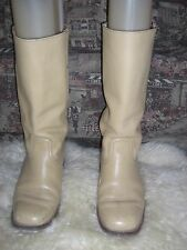 Men's Vintage 70s Frye Butter Blonde Color Leather Tall Campus Boots 8.5 D