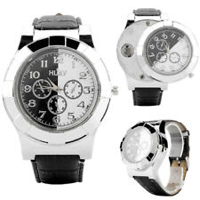 Men's Wristwatch Watch 2 in 1 Cigarette USB Charge Windproof Flameless Lighter