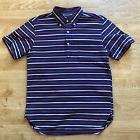 Beams Plus Red White Blue Striped Short Sleeved Polo Shirt S Made in Japan VGC