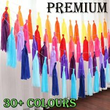 Bulk 5-100pcs Tissue Paper Tassels Garlands Bunting Party Wedding Decor pompoms