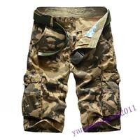 Hot Sale Mens Camo Army Combat Cargo Shorts Military Work Pants Shorts Summer US