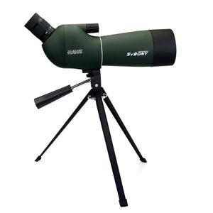 SV28 Spektiv 20-60x60mm Zoom Teleskop Wasserdicht Abgewinkelt & Small Tripod