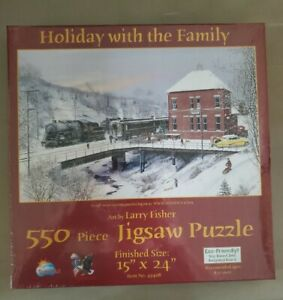 Holiday With The Family 550 Piece Puzzle Brand New sealed.