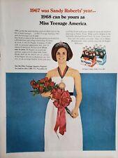 Lot of 3 Vintage Dr Pepper Ads Miss Teenage America 1967