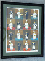 Guy Buffet Chefs and Sommelier Signed & Numbered Limited Edition Serigraph Print