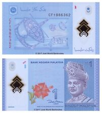 Malaysia 1 Ringgit 2012 P-51 Polymer Banknotes UNC