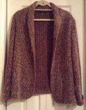 Dutchmaid Limited Womens 10 Sweater Vintage 1970s Brown Wool Sweater Cardigan