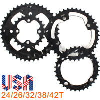 US 104/64BCDmm Double/Triple 24/26/32/38/42T Chainring Crankset MTB Road Bike