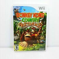 Nintendo Donkey Kong Country Returns (Nintendo Wii, 2010) Complete Tested V Good