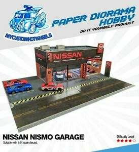 1:64 scale Nissan Nismo Garage/Showroom Diorama Building Kit for Hot Wheels