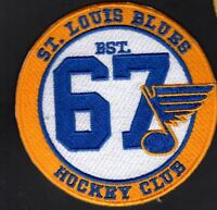 """ST. LOUIS BLUES PATCH """"HOCKEY CLUB"""" VINTAGE STYLE NHL STANLEY CUP CHAMPIONS"""