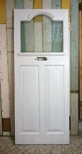EDWARDIAN FRONT DOOR WITH ETCHED LAMINATED GLASS PANEL W 796mm H 1973mm ref 1032