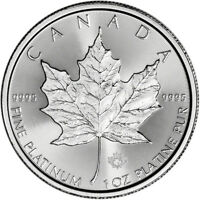 2018 Canada Platinum Maple Leaf 1 oz $50 - BU