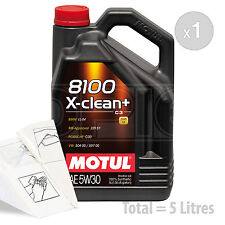 Car Engine Oil Service Kit / Pack 5 LITRES Motul 8100 X-Clean+ 5W-30 5L