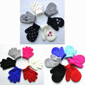 Children Winter Toddler Baby Boy Girl Cute Soft Knitting Mittens Warm Gloves New