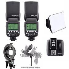 2x Godox V860II TTL  Li-ion Battery Speedlite Flash For Sony + X1T-S Transmitter
