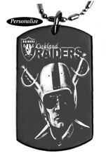 OAKLAND RAIDERS Personalized - Dog tag Necklace or Key chain+FREE ENGRAVING