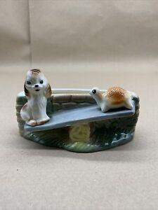 Vintage Hornsea Small Planter Playtime Seesaw Tortoise Dog 19 Retro 1950s
