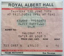 Elvis Costello Original Used Concert Ticket Royal Albert Hall London 1989