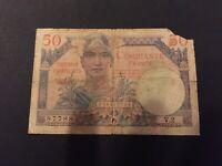 Billet 50 Francs Tresort Francais