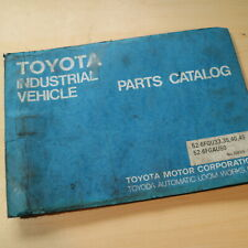 TOYOTA 52-6FGU 6FGAU 33 35 40 45 50 Forklift Parts Manual book catalog list lpg