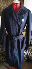 US ARMY Men's Officer Military Charcoal TRENCH COAT Men's 42R Double Vintage
