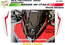 """Adesivi Enduro per cupolino - Ducati Multistrada 1200 /1260 """"V550"""""""