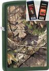 Zippo 29129 realtree mossy oak Lighter with *FLINT & WICK GIFT SET*