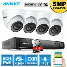 Annke 5Mp Poe Security Camera System 8Mp 4K 8Ch Nvr Ip Network Ir Night Vision