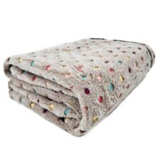 100x140CM Lareg Warm Pet Blanket Cat Mat Bed Cover Fleece Cushion Pad Mat Beige