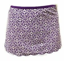 9741283db2 Lands End Swim Skirt Purple Print Scalloped Edge Plus Size 16+