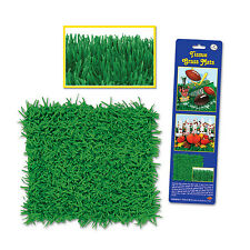 """Beistle Tissue Grass Mats Football Party 30""""x15"""" Table Decoration, Green, 2 Pack"""