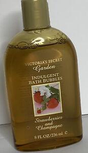 Vtg VICTORIAS SECRET Garden Indulgent Bath Bubble Strawberries Champagne
