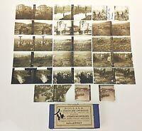Lot de 17 vues stéreoscopiques anciennes noir & blanc Guerre de 14/18