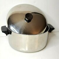Revere Ware Stainless Steel 4 1/2 Qt Stock Pot 97b w/ Lid Made In Clinton, IL
