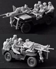 1/35 Scale US Soldiers Unfinished (6 Figs, no Jeep)