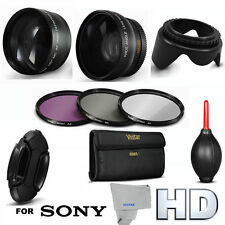 52MM FISHEYE MACRO LENS + 2X TELEPHOTO ZOOM LENS +HD FILTERS FOR SONY FDR-AX33