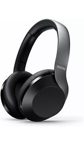 Philips - Wireless Over-Ear Noise Canceling Headphones- Black - Black