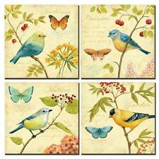 Wall Canvas Bird Nature Butterfly Floral Flower Art Painting Picture 4 Decor New