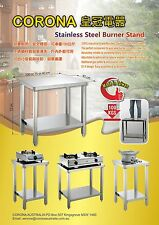 Gas burner stand cooker bench stove table full stainless steel heavy duty 1000mm