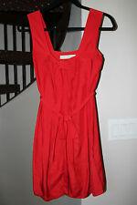 Stella McCartney Red Silk Bow Dress in Size 34