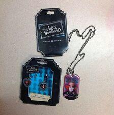 Alice in Wonderland Johnny Depp promotional necklace & earrings