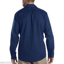 Dickies Mens NEW Size S-5XL Pocket Long Sleeve Industrial Work Shirt ll535