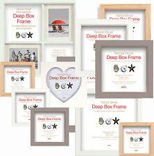Tiefer Box Rahmen - Holz Display Bilderrahmen Wahl von 3 Farben und 6 Sizes