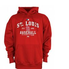 St Louis Cardinals Authentic Hoodie 4XL Therma Base Hooded Sweatshirt MLB Red