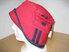 New Medium Cotton Canvas Bucket Hat w/ Pocket - UPF50+ Red