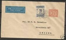 Neth.Indies 1934 Airmailcover KOTAMOBAGOE to Leiden