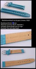 de Luxe Bracelet pour montre en Le Maison Jacques Lemans SHARK 16 mm Turquoise